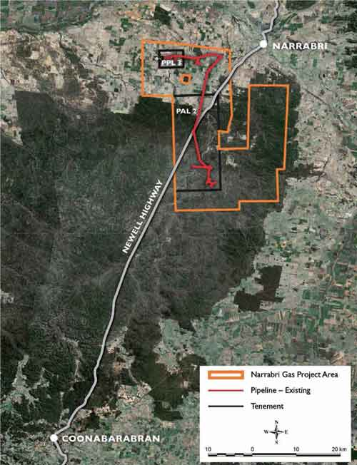 Santos Narrabri coal seam gas project