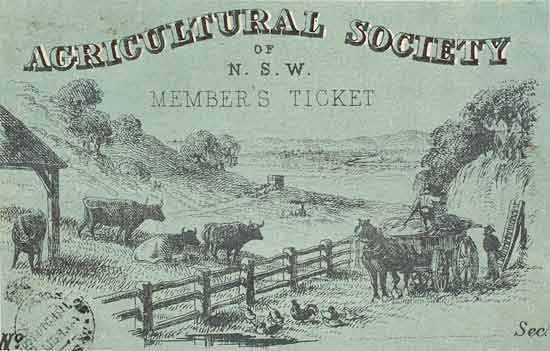 Agricultural society NSW